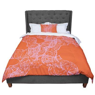 Patternmuse Mandala Pumpkin Comforter Size: Queen