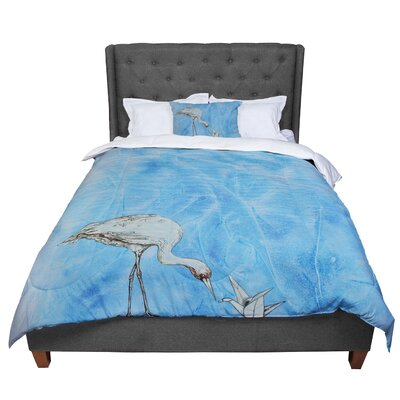 Kira Crees Crane Comforter Size: Twin