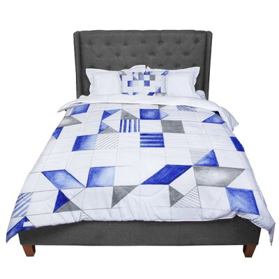 Kira Crees Winter Geometry Comforter Size: King