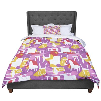 Luvprintz Chairs Comforter Size: King