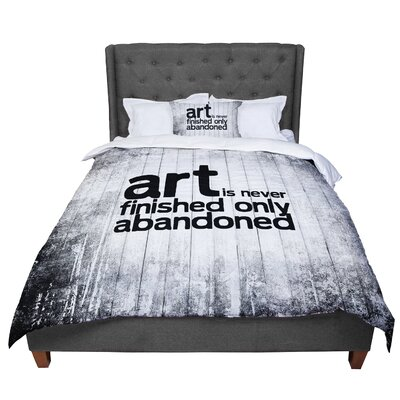 Art Never Finished Comforter Size: Queen