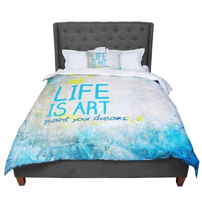 Life is Art Comforter Size: Twin