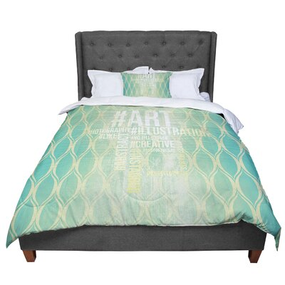 Hashtag Comforter Size: King