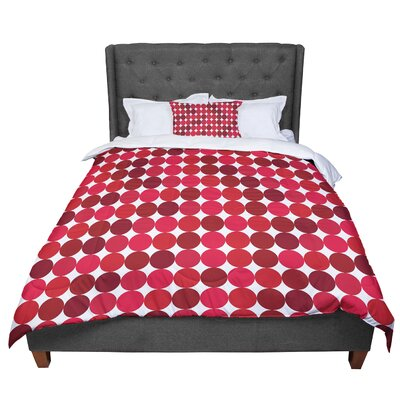 Noblefur Dots Comforter Size: King, Color: Red