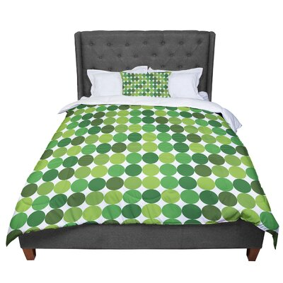 Noblefur Dots Comforter Size: Twin, Color: Green
