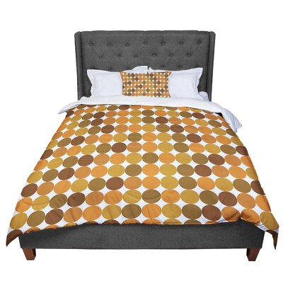Noblefur Dots Comforter Size: King, Color: Orange