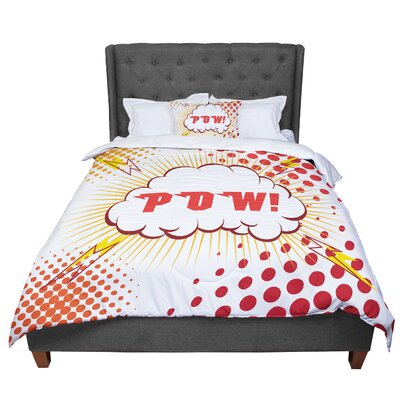 POW! Cartoon Comforter Size: Twin