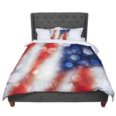 Patriot America Bokeh Comforter Size: King