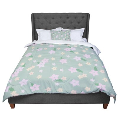 Spring Floral Comforter Size: Twin