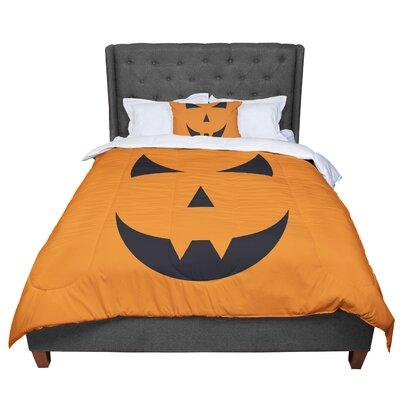 Pumpkin - Trick Comforter Size: Queen