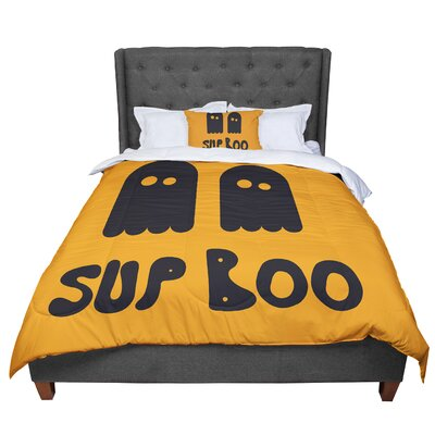 Sup Boo Comforter Size: Twin