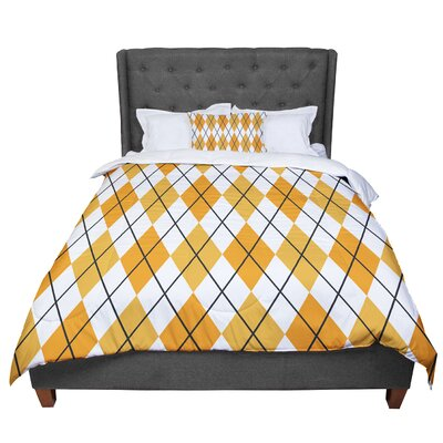 Argyle - Day Comforter Size: Queen, Color: White