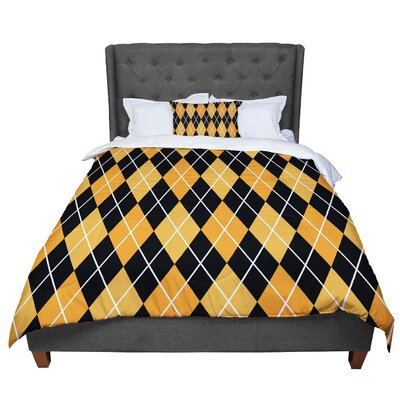Argyle - Day Comforter Size: King, Color: Black