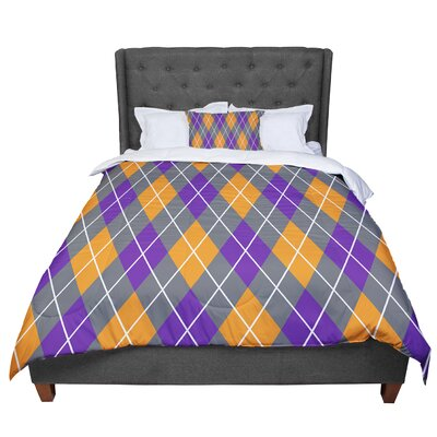 Argyle - Day Comforter Size: King, Color: Purple