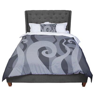 Poor Unfortunate Souls Comforter Size: Twin, Color: Gray