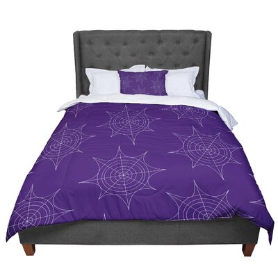 Spiderwebs Comforter Size: Twin, Color: Purple