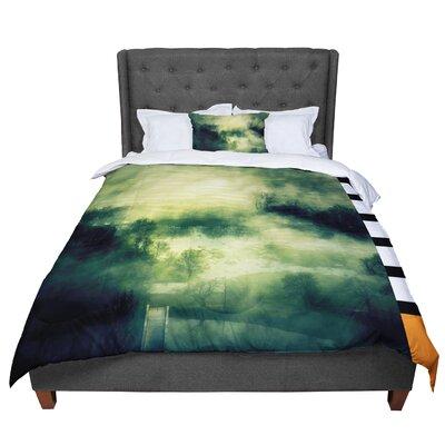 888 Design Mystical Landscap Comforter Size: King