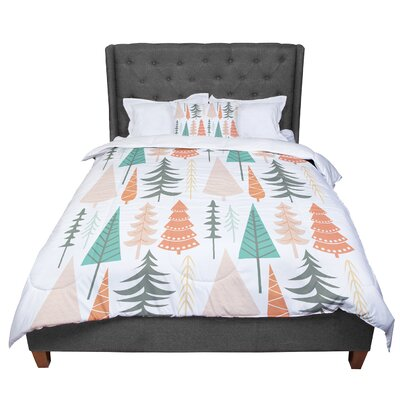 Happy Forest Comforter Size: Twin, Color: Orange/Green