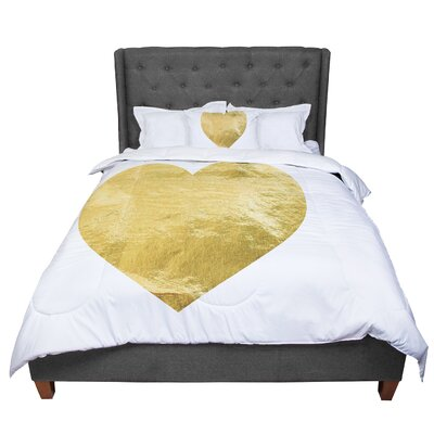 Heart Comforter Size: King