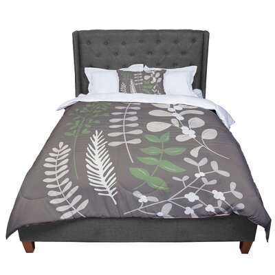 Deck the Hollies Comforter Size: King, Color: Brown/Green