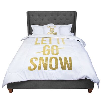 Let It Snow Typography Comforter Size: Twin