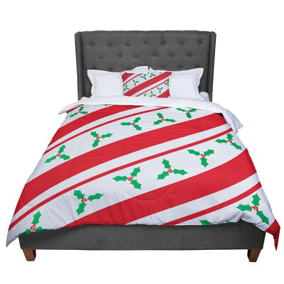 Holiday Holly Christmas Holiday Comforter Size: Queen