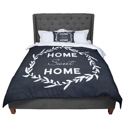 Home Sweet Home Comforter Size: King