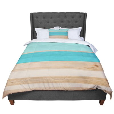 Spring Swatch Tangerine Custard Comforter Size: King, Color: Blue/Teal