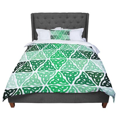 Celtic Knot Forest Mint Comforter Size: Twin