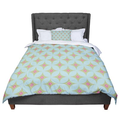 Retro Aquamarine Comforter Size: King