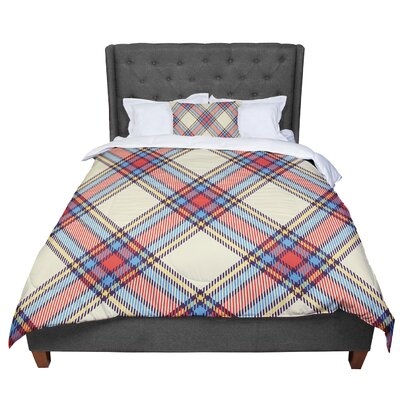 Sunday Brunch Plaid Tartan Comforter Size: Queen