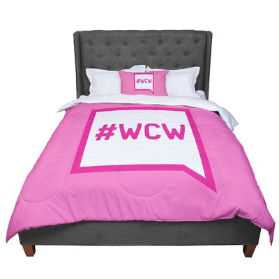 Women Crush Wednesday Comforter Size: Twin
