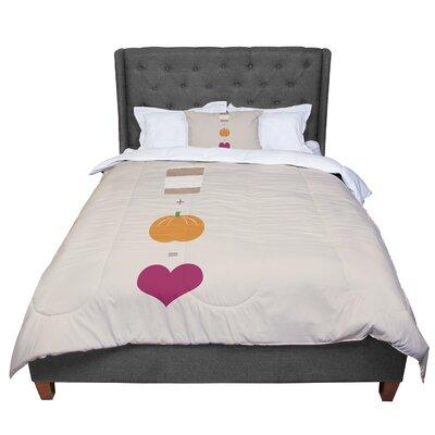 Pumpkin Spice Latte Comforter Size: Queen