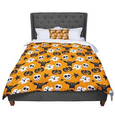 Spooktacular Halloween Pattern Comforter Size: King