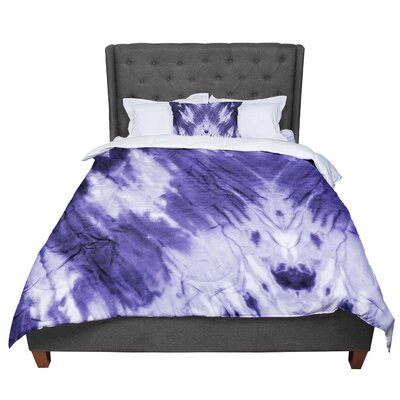 Violet Dye Digital Comforter Size: King, Color: Purple