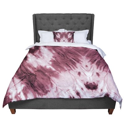 Violet Dye Digital Comforter Size: Queen, Color: Red