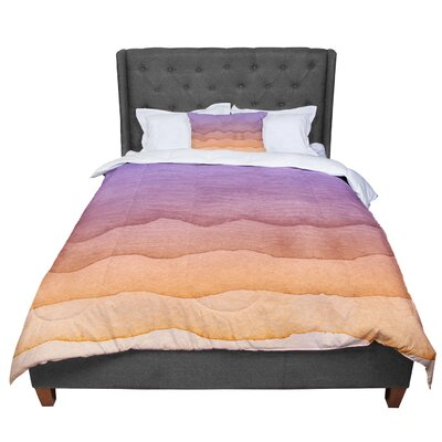 Ombre Sunrise Watercolor Comforter Size: Twin