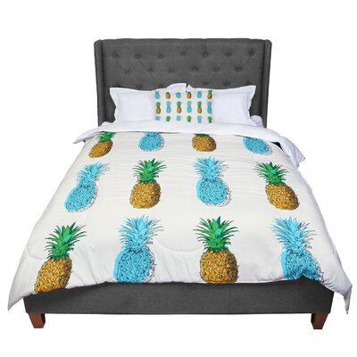Fineapple Food Abstract Comforter Size: King