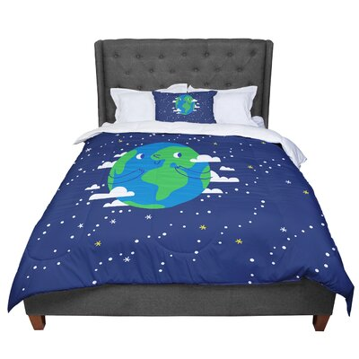 Happy Earth Comforter Size: King