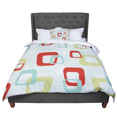 Retro Squares Comforter Size: King