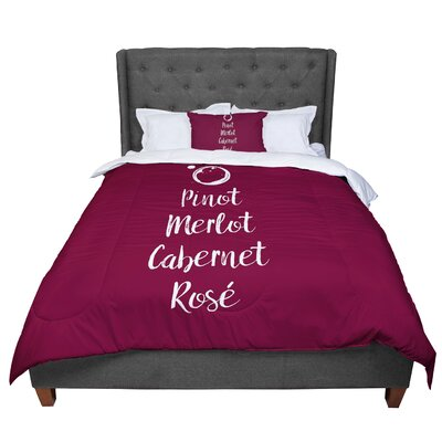 Pinot Merlot Cabernet Ros Aa Comforter Size: Twin