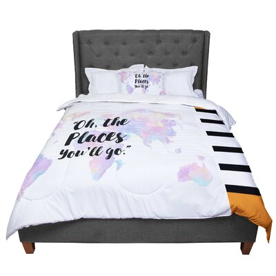 The Places Youll Go Comforter Size: King