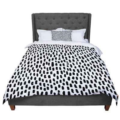 Ink Dots Comforter Size: King