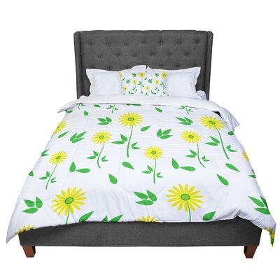 Louise Daisy Comforter Size: Twin