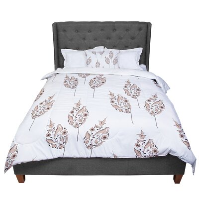 Louise Pattern Flower Comforter Size: King