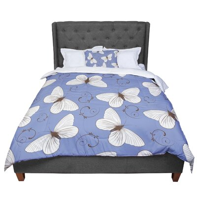 Louise Butterflies Comforter Size: King