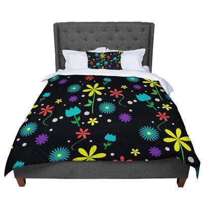 Louise Flower I Comforter Size: King