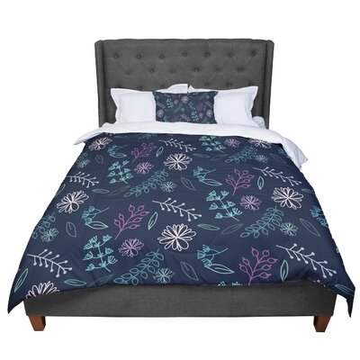 Louise Flower III Comforter Size: Twin