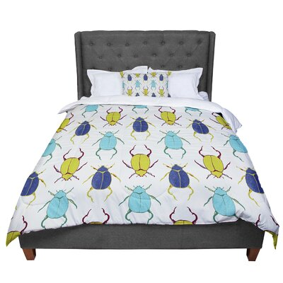 Laurie Baars Beetles Comforter Size: King