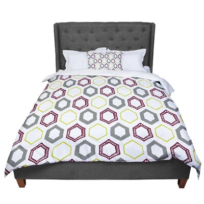 Laurie Baars Hexy Small Geometric Comforter Size: King